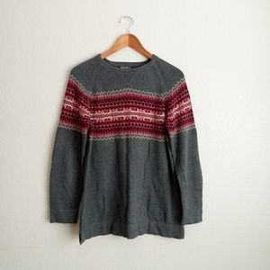 Eddie Bauer Fair Isle Sweater Size Medium